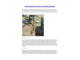 Glen Burnie Drain Cleaning Dundalk Sewer Lines Essex
