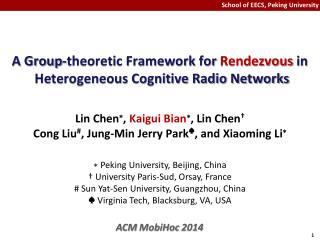 A  Group-theoretic Framework  for  Rendezvous in  Heterogeneous Cognitive Radio Networks