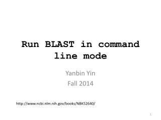 Run BLAST in command line mode