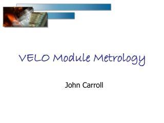 VELO Module Metrology