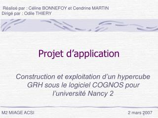 Projet d'application