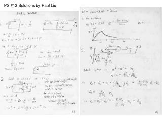 PS #12 Solutions by Paul Liu