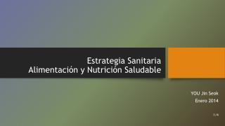 Estrategia Sanitaria Alimentación y Nutrición Saludable