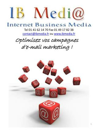 Optimisez vos campagnes  d�e-mail marketing !