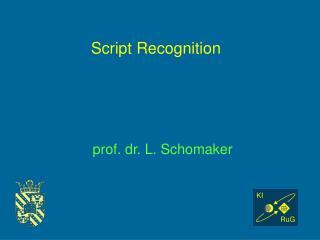 Script Recognition