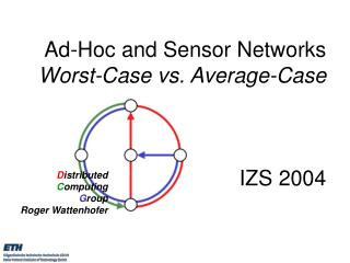 Ad-Hoc and Sensor Networks  Worst-Case vs. Average-Case IZS 2004