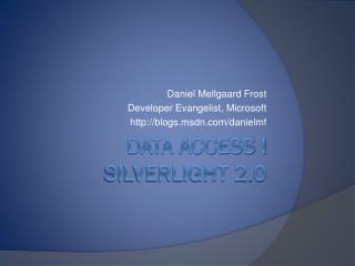 Data access i Silverlight 2.0