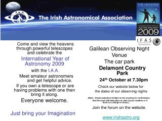 Come and view the heavens through powerful telescopes and celebrate the