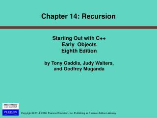 Starting Out with C++  Early  Objects  Eighth Edition