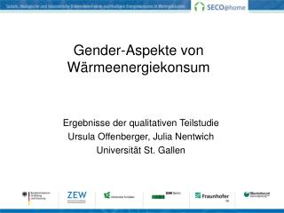 Gender-Aspekte von Wärmeenergiekonsum