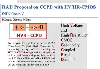 H igh  V oltage  and  High  R esistivity  CMOS C apacively C oupled  P ixel  D etector
