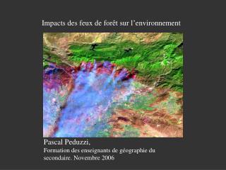 Impacts des feux de for t sur l environnement