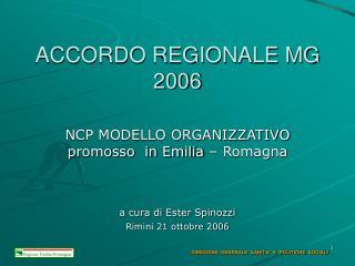 ACCORDO REGIONALE MG 2006