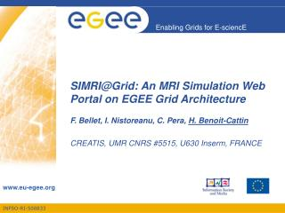 SIMRIGrid: An MRI Simulation Web Portal on EGEE Grid Architecture