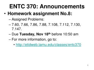 ENTC 370: Announcements