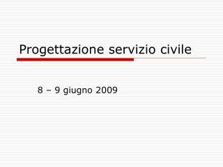 Progettazione servizio civile