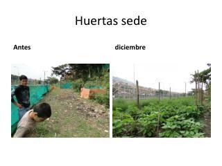 Huertas sede