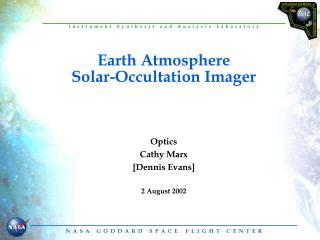 Earth Atmosphere Solar-Occultation Imager