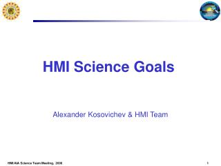 HMI Science Goals