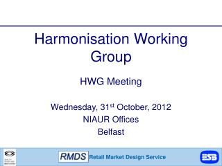 Harmonisation Working Group