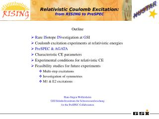 Relativistic Coulomb Excitation: from RISING to PreSPEC