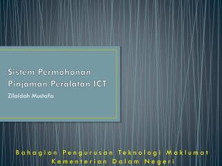 Sistem Permohonan Pinjaman Peralatan ICT