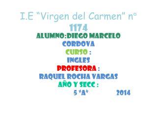 """I.E """"Virgen del Carmen"""" n°  1174"""