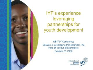 IYF's experience leveraging partnerships for youth development