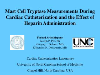 Mast Cell Tryptase Measurements During Cardiac Catheterization and the ...