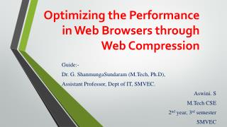 Optimizing the Performance in Web Browsers through  Web  Compression