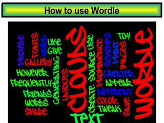 Step 1 : Access  wordle