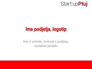 Ime podjetja, logotip