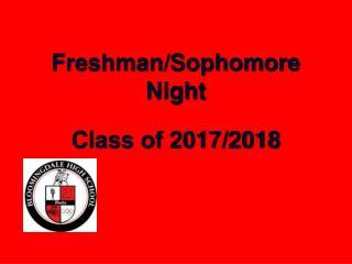 Freshman/Sophomore Night