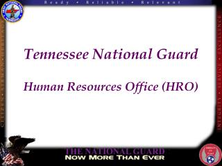 Tennessee National Guard Human Resources Office (HRO)