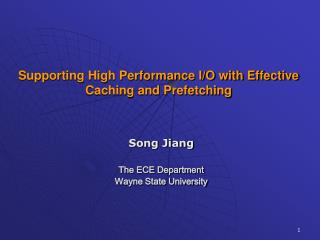 Supporting High Performance I