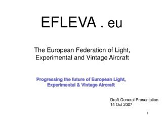 Progressing the future of European Light,  Experimental & Vintage Aircraft
