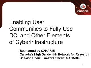 Enabling User Communities to Fully Use DCI and Other Elements of Cyberinfrastructure
