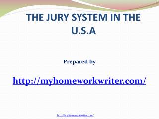 Jury System in the USA