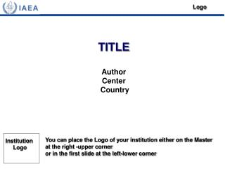 TITLE Author Center  Country