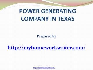 Power Generating Company