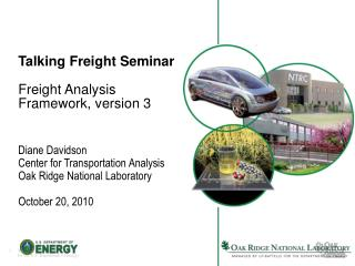 Talking Freight Seminar Freight Analysis Framework, version 3
