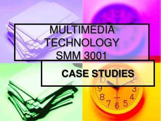 MULTIMEDIA TECHNOLOGY SMM 3001