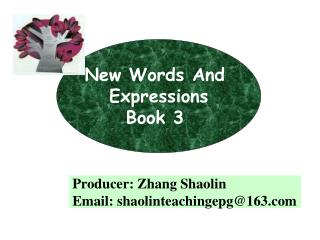 New Words And  Expressions Book 3