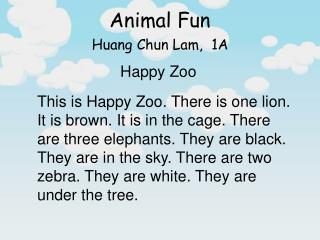Huang Chun Lam,  1A