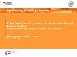 Project Development Programme - German Renewable Energy Business Initiative