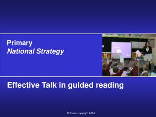 Effective Talk in guided reading
