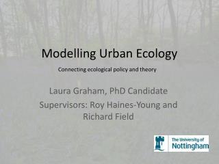 Modelling Urban Ecology