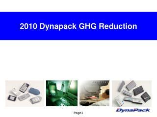 20 10  Dynapack GHG Reduction