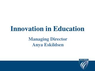 Innovation in Education