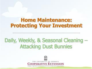 Home Maintenance: Protecting Your Investment